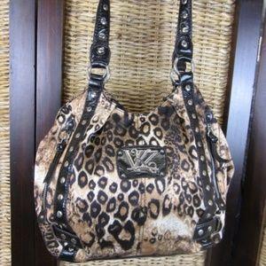Kathy Van Zeeland Animal Print Handbag Purse